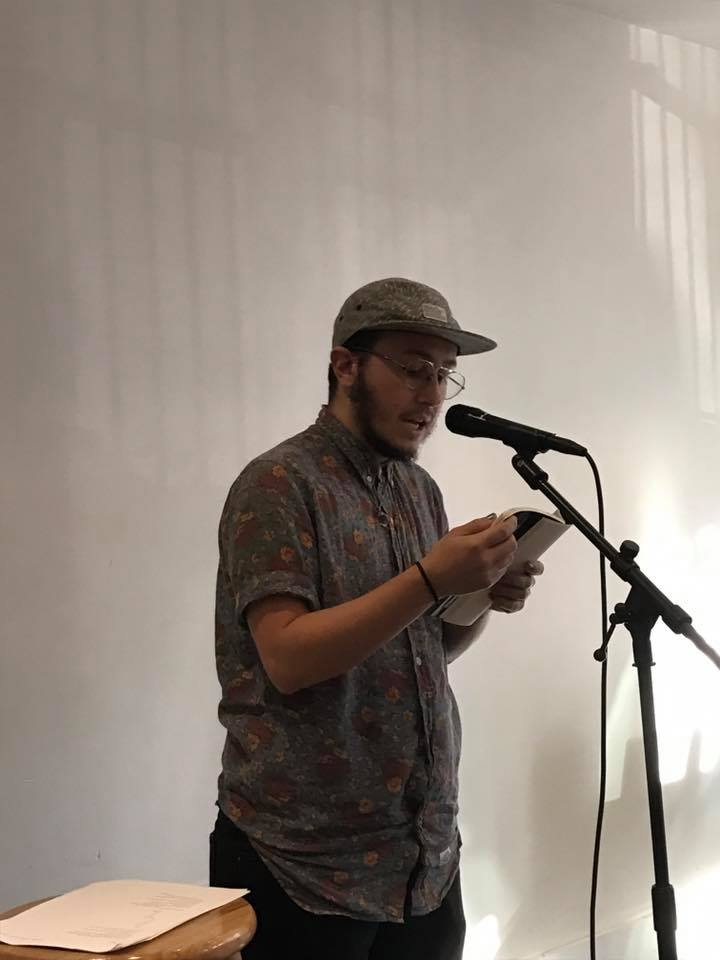 Oliver Baez Bendorf reading from his book, The Spectral Wilderness